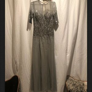 Nordstrom's Elegant, Sparkly Gray Dress